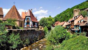Alsatian Village Scene