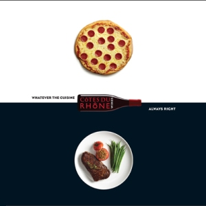 Côtes du Rhône Pizza Ad