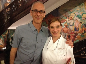 "Cy with Pati Jinich at the Mexican Cultural Institute in DC.  Pati is the official Chef there, and is also the host of ""Pati's Mexican Table"" on PBS."