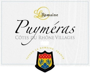Another CdRV wine from Cave la Romaine.  Puyméras is in the foothills of Mont Ventoux, with varied terrain and sun exposure.