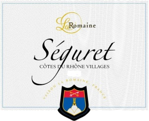 One of the CdRV wines from Cave la Romaine.  Séguret's vineyards are on a wide-open plain with plenty of sun.
