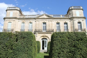 Château d'Assas in the sunshine, when I visited this past April.