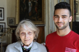 Marie-Claire Demangel, Simone's daughter, with her grandson Alex this past April.