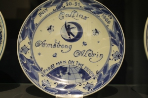 If you're drinking old-vine wine, the grapes in that wine came from vines that were already going strong when this Delft plate commemorating the 1969 lunar landing was made.