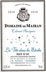La Tête dans les Étoiles, the Cabernet Franc from Domaine de Mairan in the Languedoc.