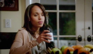 That's our Olivia -- glass or bottle in hand, sad expression on her face...we've all been there, right?