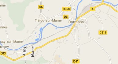 "Map 2 - The German army advanced from the north and captured territory south of the river to the east and west of Dormans.  Trélou-sur-Marne was attacked in the first days of the battle.  Champagne Bernard Mante, First Vine's champagne producer, is located just about at the ""M"" in Marne."