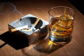 The Washington University study also linked cigarette smoking with drinking spirits.  (Photo from dadswisdoms.com)