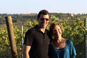 Chris and Darrene at San Benedetto.  Good friends, food, and wine make any trip special!