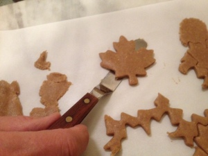 Christmas would have been ruined, RUINED, without my little offset spatula to help get cookies off the parchment paper they were rolled on.