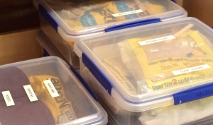 Sue also recommended Sistema containers -- they snap shut easily and seal well.
