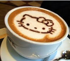 To illustrate customization, Lulie Halstead showed us a gizmo to make your cappuccino foam look like Hello Kitty.  Sign me up!