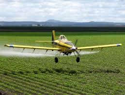 Crop dusting is a quick way to apply chemicals to crops, but I hope it's a calm day.