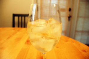 Would a wine snob add ice to wine like this?  Cy and I did at dinner last night.  (Photo from houstonpress.com)