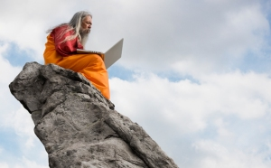 Apparently blogging can lead to enlightenment. (Photo from mountaintopguru.wordpress.com)