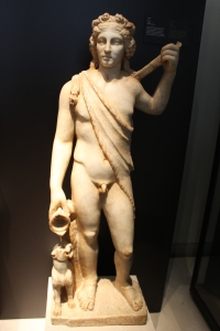 Bacchus as a youth/young man, from a Roman sculpture in the royal collection.