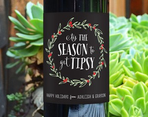 'Tis also the season for novelty wine labels. But resist the urge to drink wine with Christmas carols!