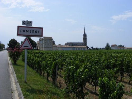 The village of Pomerol in Bordeaux, origin of the wine for Rose Levy Beranbaum's first great wine experience. Photo from www.map-france.com