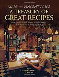 This is the cover of the new edition, with a photo of Vincent and Mary Price in their kitchen. Victoria told me that the original cookbook design was inspired by the copper pots and molds.