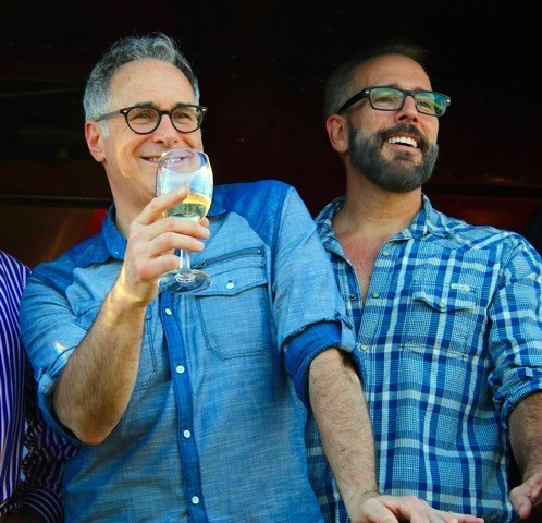 Gary Saperstein (left) and Mark Vogler are the owners and founders of Out in the Vineyard, a wine tourism company for the LGBT community.